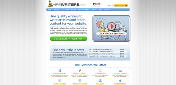 HireWriters Review [4.6/10]: Fake or Reliable Writing Service?