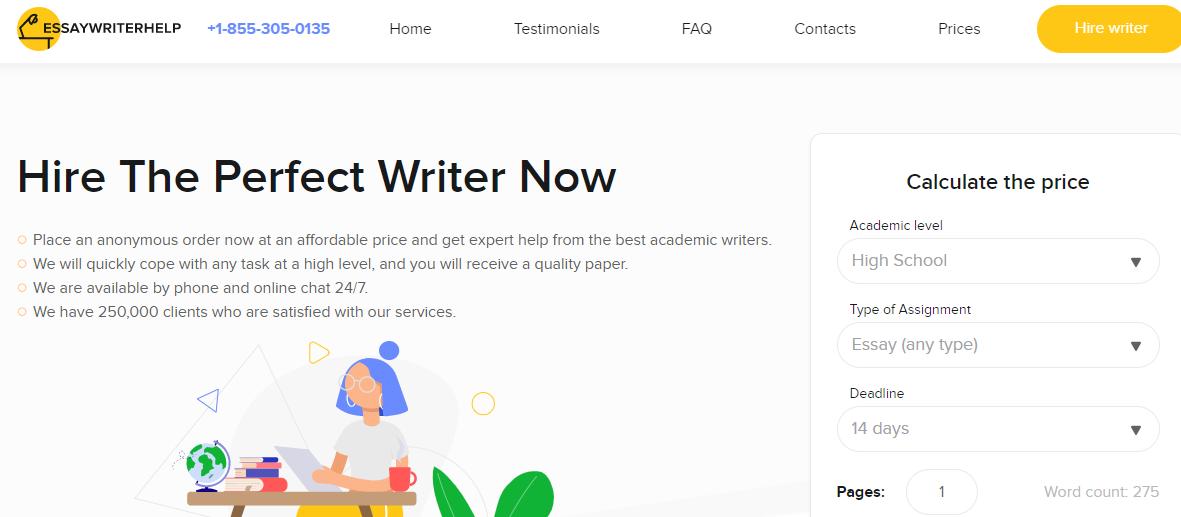 Precise Essaywriterhelp Review[9.2/10]: Is Service Legitimate? [2021]